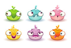 Funny colorful blob characters set. Royalty Free Stock Image
