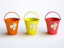Free Funny Colorful Buckets Royalty Free Stock Photography - 17267967