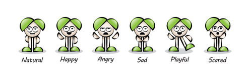 Funny Colorful Cartoon Character Stock Images