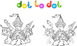 Funny colorful castle dot to dot Royalty Free Stock Photo