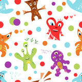 Funny colorful children's seamless pattern. Illustration for kid design. Bright colors. Endless texture can be used for printing onto fabric, web page Royalty Free Stock Image