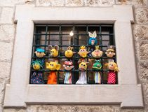 Funny colorful dolls on sale stock images