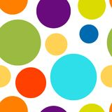 Funny colorful dots seamless pattern for your Stock Photos