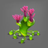 Funny colorful fantasy alien plants. Stock Photography