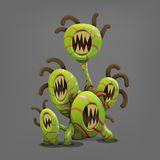 Funny colorful fantasy alien plants. Vector illustration Royalty Free Stock Photos