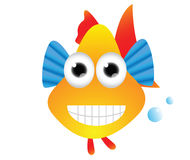 Funny Colorful Fish Cartoon Royalty Free Stock Images