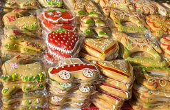 Funny and colorful gingerbread Stock Photo