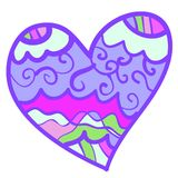 Funny colorful heart with curls. Stock Photo