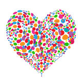 Funny colorful heart shape design Stock Images