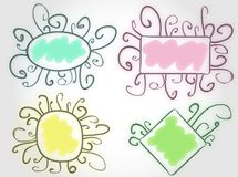 Funny colorful vector frames Stock Photo