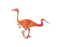Funny colorful walking dinosaur Stock Image