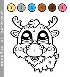 Funny coloring by numbers game. Royalty Free Stock Images