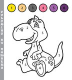 Funny coloring by numbers game. Stock Images