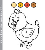 Funny coloring by numbers game. Stock Photos