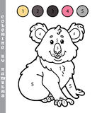 Funny coloring by numbers game Royalty Free Stock Photos