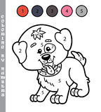 Funny coloring by numbers game. Royalty Free Stock Photography