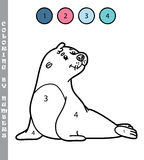 Funny coloring by numbers game. Stock Photography