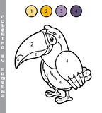 Funny coloring by numbers game. Stock Photo