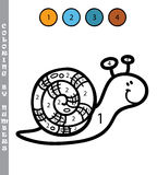 Funny coloring by numbers game. Royalty Free Stock Photo