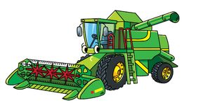 Funny combine harvester with eyes Stock Image
