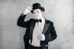 Funny comedy actor with makeup face Stock Images