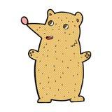 Funny comic cartoon bear Royalty Free Stock Photography