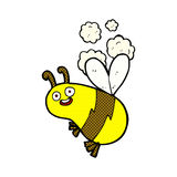 Funny comic cartoon bee Stock Images