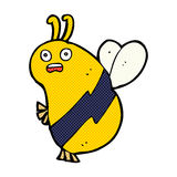 Funny comic cartoon bee Stock Image