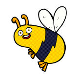 Funny comic cartoon bee Royalty Free Stock Image
