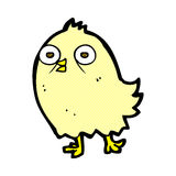 Funny comic cartoon bird Stock Photography