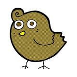 Funny comic cartoon bird Stock Image