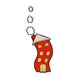 Funny comic cartoon house. Funny retro comic book style cartoon house Stock Photos