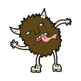 Funny comic cartoon monster Stock Image