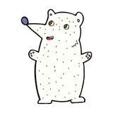 Funny comic cartoon polar bear Royalty Free Stock Image