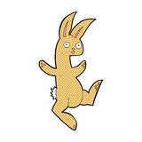 Funny comic cartoon rabbit Stock Images