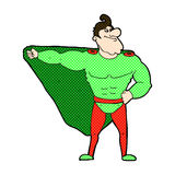 Funny comic cartoon superhero Stock Photography