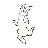 Funny comic cartoon white rabbit Royalty Free Stock Photos