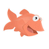 Funny comic fish illustration. Illustration of a funny comic fish Royalty Free Stock Photography