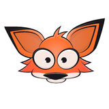 Funny comic fox head clipart. Clipart of a funny fox head Royalty Free Stock Image