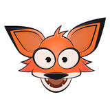 Funny comic fox with open mouth Royalty Free Stock Photography