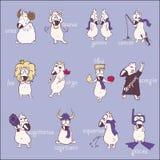 Funny comic horoscope. Royalty Free Stock Photos