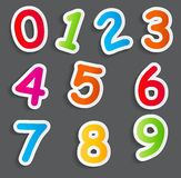 Funny Comic Numbers Vector Illustration Stock Photos