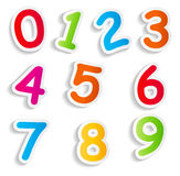 Funny Comic Numbers Vector Illustration Stock Photo
