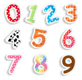 Funny Comic Numbers Vector Illustration Royalty Free Stock Photo