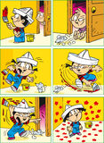 Funny comics with children Stock Photo