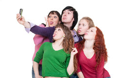 Funny company taking picture Royalty Free Stock Images