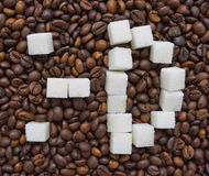 Funny composition of sugar in the form of a emoticon Royalty Free Stock Photography