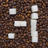 Funny composition of sugar in the form of a emoticon Royalty Free Stock Images