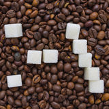 Funny composition of sugar in the form of a emoticon Stock Image