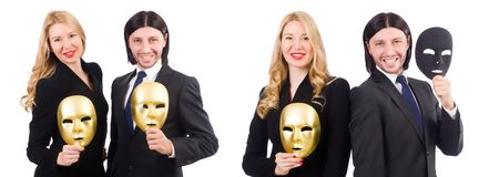 The funny concept with theatrical mask Royalty Free Stock Photos